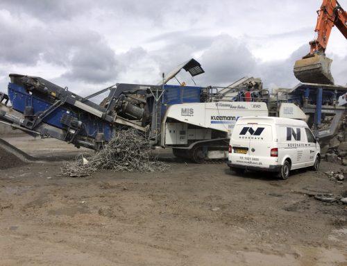 Serviceeftersyn på betonknuser