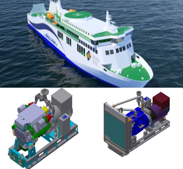 Nordhavn A/S levere fire generatoranlæg GASI 16-07 samt nødanlæg GASC 8-06 til Molslinjens nye RoPax færge.
