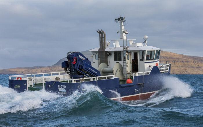Katamaran arbejdsbåd