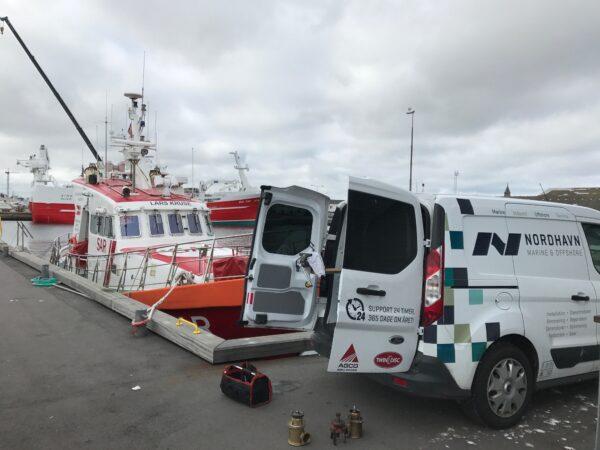 Nordhavn A/S laver eftersyn i Skagen på redningsbåden Lars Kruse.