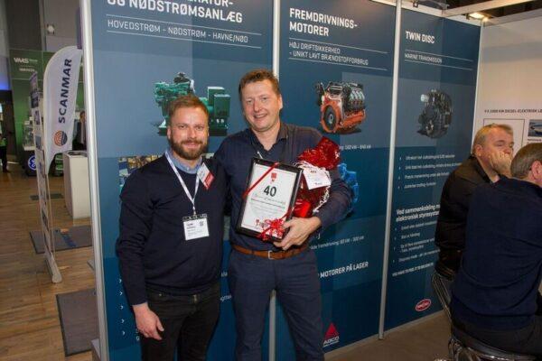 CSO, Jørk Rudolph modtager diplom i anledningen af mere end 40 års medlemskab af Dansk Eksportforening.