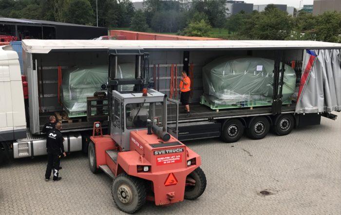 """Lastbilen bliver fyldt med """"power"""" til endnu en Esvagt nybygning"""