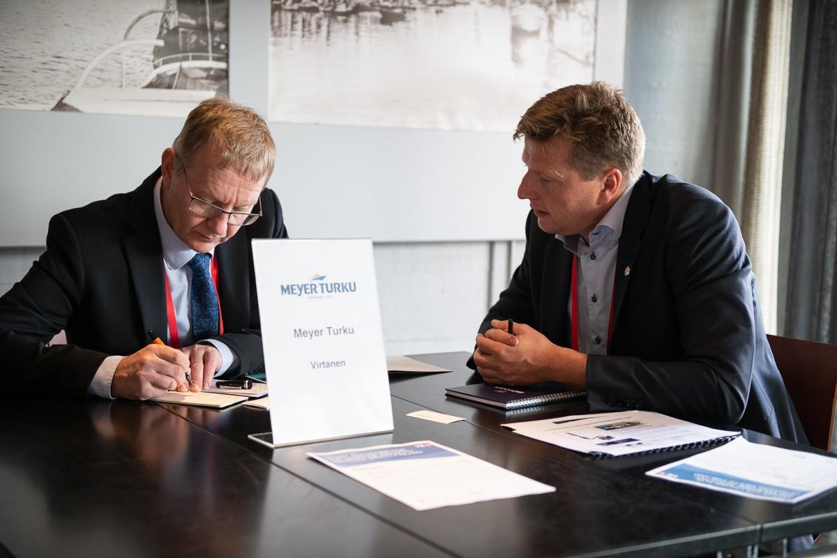 CSO, Jørk Rudolph på officielt dansk erhvervs fremstød i Finland, her på besøg hos Meyer Turku
