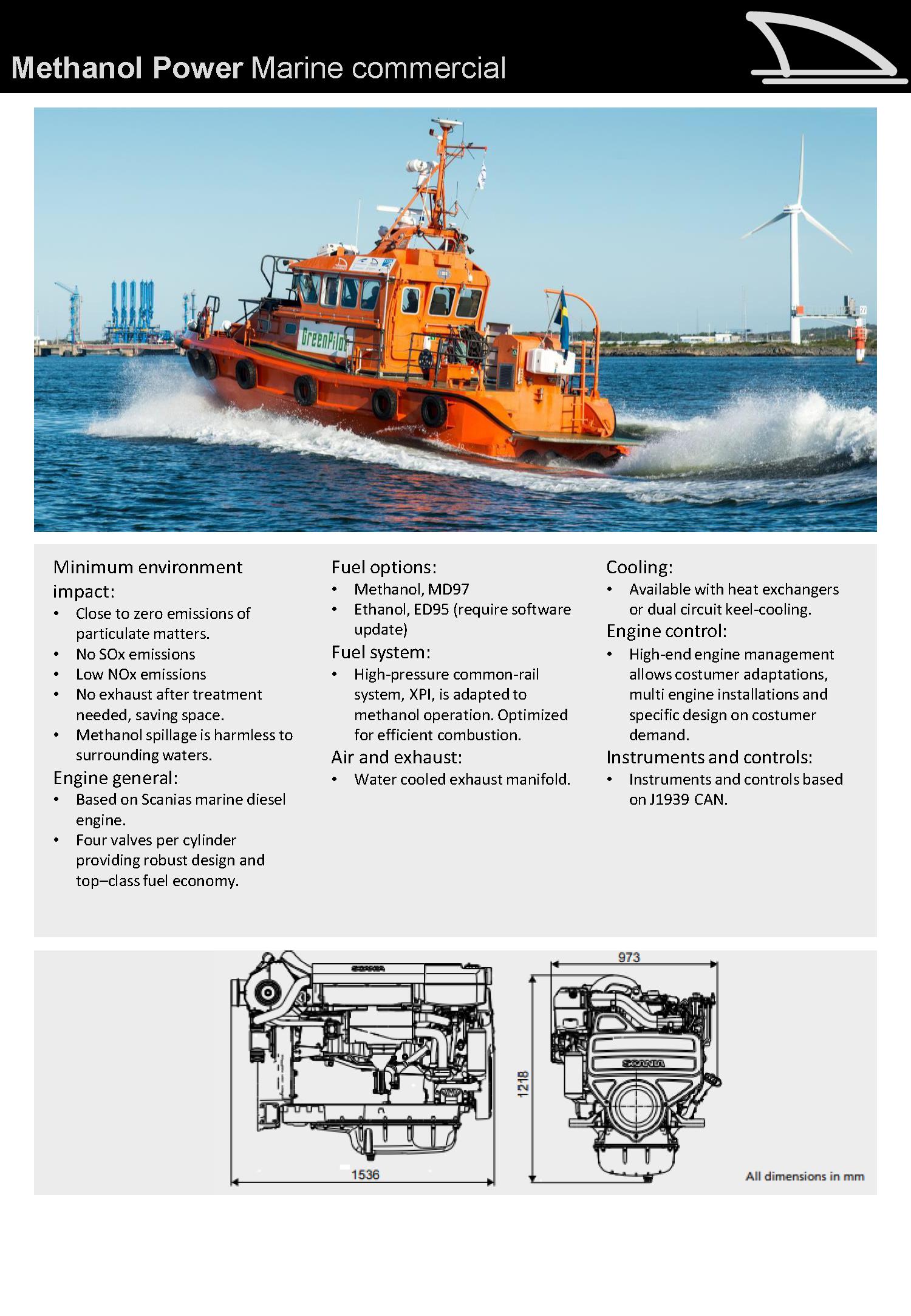 Metanol 13L - 280 kW (375 Hp)